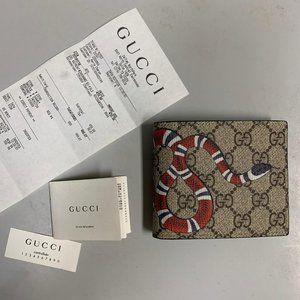 Gucci Wallet Kingsnake print GG Supreme